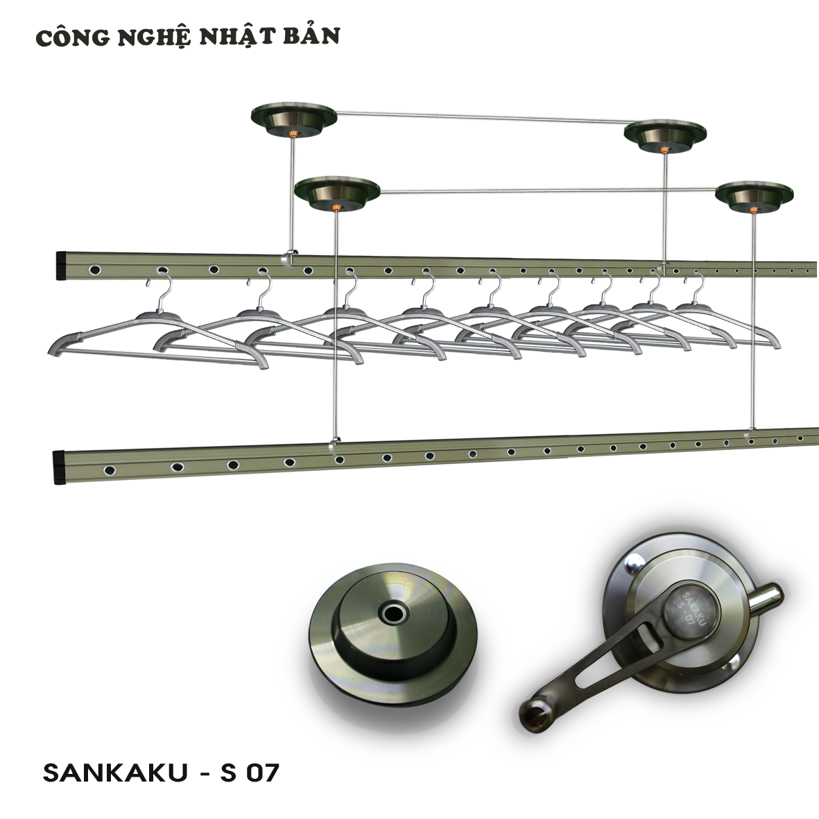 Giàn phơi nhập khẩu Sankaku S07